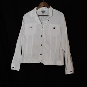 Chico's Jacket with Rhinestone Buttons